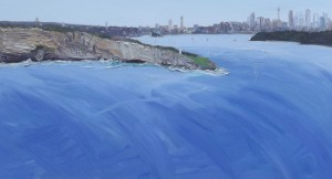 Clear and cool-The Fortress South head-Oil on canvas-105cm by 180cm